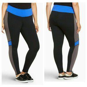 Torrid Womens Leggings Active Colorblock 0X